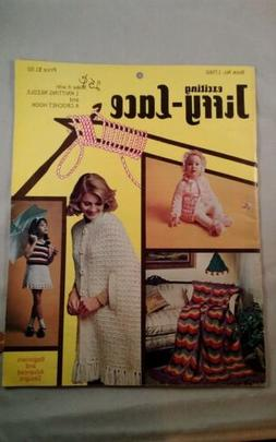 Jiffy Lace  1 knitting needle & crochet  hook Afghan Clothes