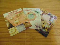 3 Crochet Pattern Books Doilies-Afghans-and more