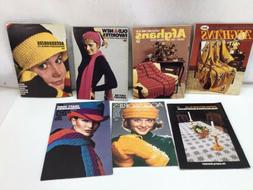 7 Vintage Coats & Clark and American Thread Co. Patterns Boo