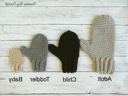 Crochet family mittens PATTERN ONLY Quick Simple Easy baby t