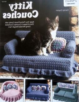 Crochet  Kitty Couches  3 Designs  Precious!   Pattern Leafl