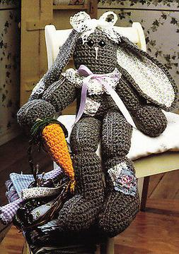 Crochet Pattern ~ FLORENCE BUNNY Easter Stuffed Animal Toy ~