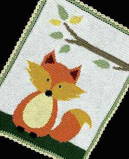 Crochet Patterns - FOX WOODLAND/FOREST Baby Afghan Pattern *