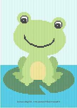 Crochet Patterns - FROG on LILY PAD *EASY