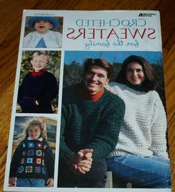 Crocheted Sweaters for the Family Crochet Book Decor Craft D