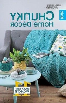 Knit Pattern Book CHUNKY HOME DECOR ~ Afghan, Table Runner,