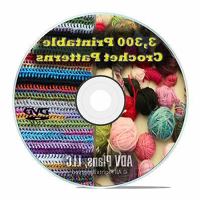 3 300 printable crochet patterns and plans
