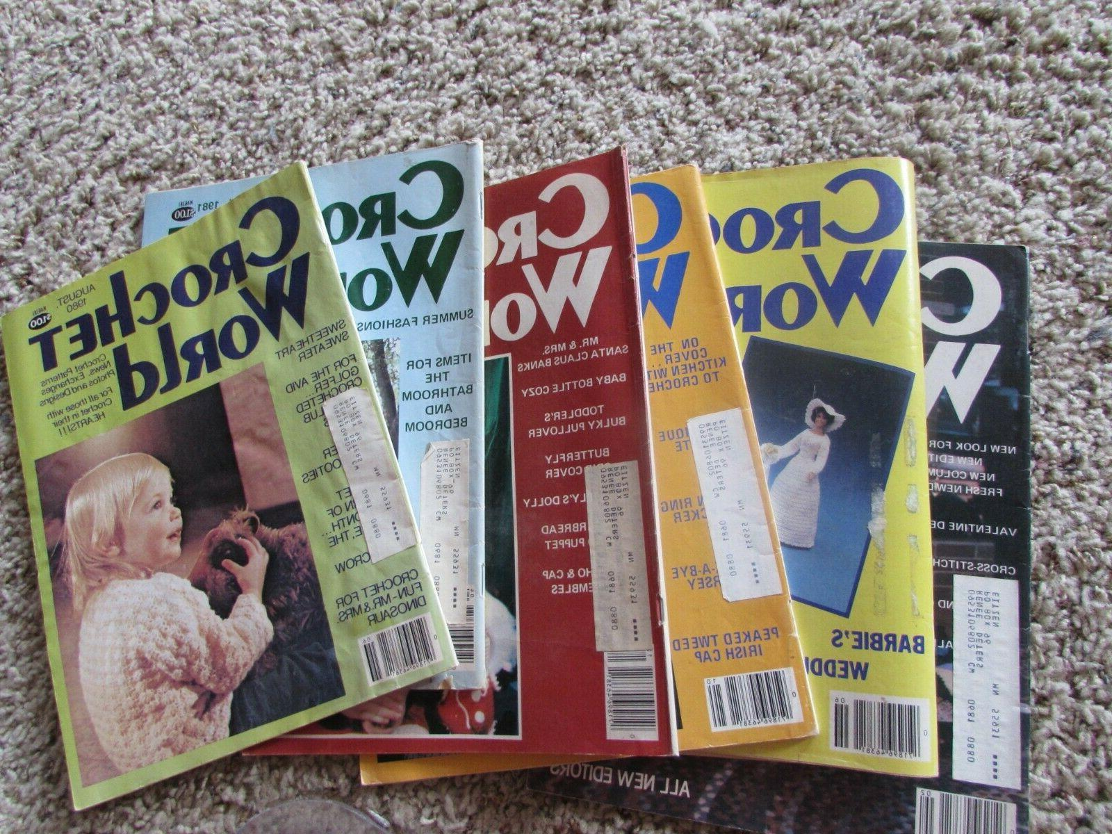 6 vintage 1980 and 1981 magazines w