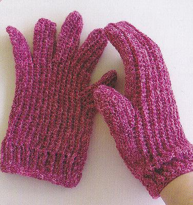 crochet pattern ladies stretchy gloves instructions