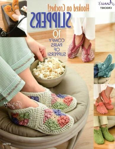 hooked on crochet slippers 10 styles annie
