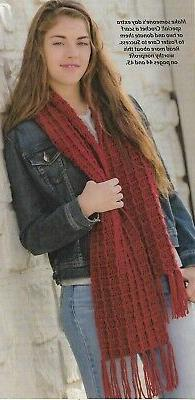 Lady's Red Scarf crochet PATTERN INSTRUCTIONS