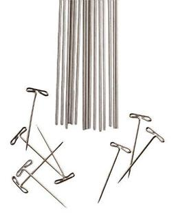 Lace Blocking Wires and T-Pins for knitters, crocheters who