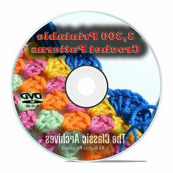 Learn to Crochet, 3300 Printable Crochet Patterns & Guides B