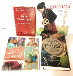 Lot 4 Knitting Stitching Vintage & Contemporary Illustrated