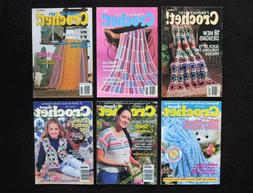 Lot 6 Hooked On Crochet Digest Magazine Doilies Afghans Deco