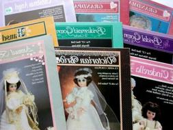 Lot of 22 Doll Clothes Pattern Books - 19 Fibre Craft, Doll