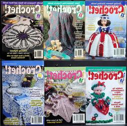 Lot of 6 Issues HOOKED ON CROCHET Magazine • May/June 1997