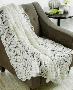 PINEAPPLE DELIGHT THROW AFGHAN CROCHET PATTERN INSTRUCTIONS