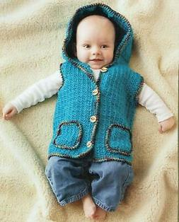 Snuggly Baby Hoodie Vest Crochet Pattern Instructions