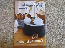 Lily Sugar 'n Cream book COUNTRY KITCHEN crochet patterns fo