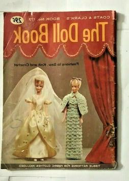 Vintage 1966 DOLL Pattern BOOK Sew, Knit Crochet Tablecloth