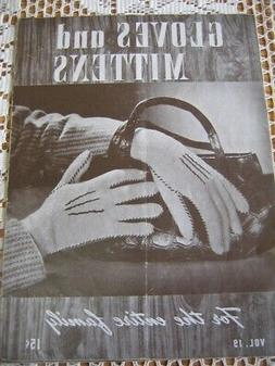 Vintage GLOVES and MITTENS Knitting Crochet Pattern Book WOM