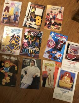 Vintage Lot 11 Annies Crochet Patterns Books Toys Gifts Sue