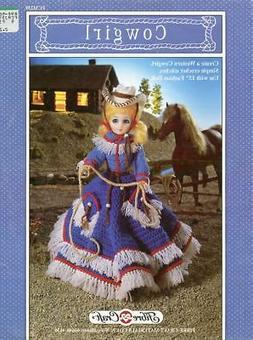 """Western Cowgirl 15"""" Doll Outfit Fibre Craft Crochet PATTERN/"""